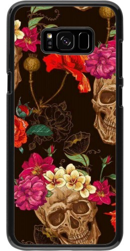 Coque Samsung Galaxy S8+ - Skulls and flowers