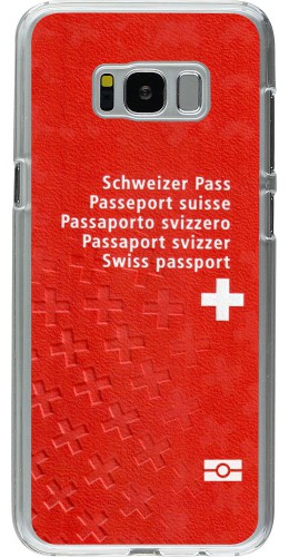 Coque Galaxy S8+ - Plastique transparent Swiss Passport