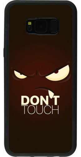 Coque Samsung Galaxy S8+ - Silicone rigide noir Angry Dont Touch