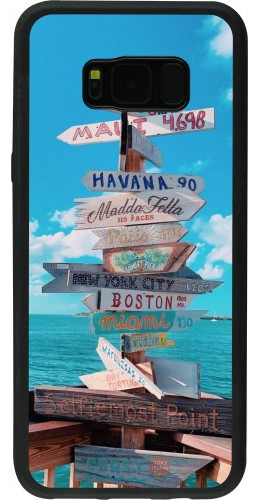 Coque Samsung Galaxy S8+ - Silicone rigide noir Cool Cities Directions