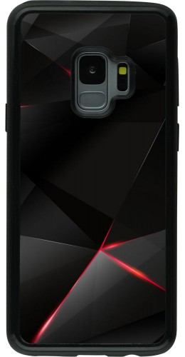 Coque Samsung Galaxy S9 - Hybrid Armor noir Black Red Lines