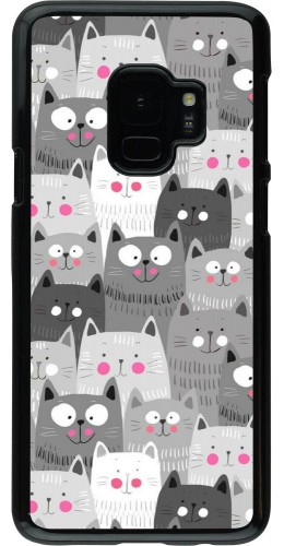 Coque Samsung Galaxy S9 - Chats gris troupeau
