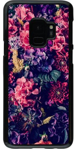 Coque Galaxy S9 - Flowers Dark