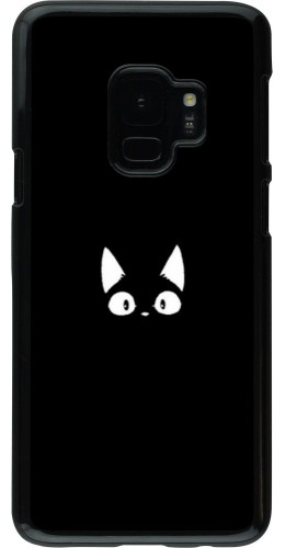 Coque Samsung Galaxy S9 - Funny cat on black