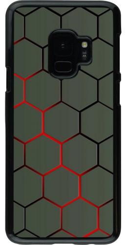 Coque Samsung Galaxy S9 - Geometric Line red