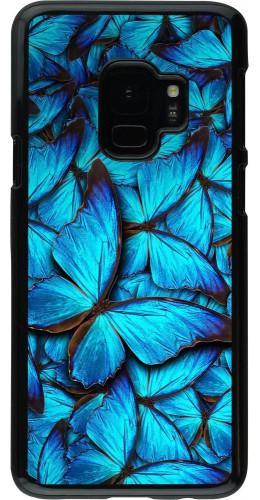 Coque Samsung Galaxy S9 - Papillon bleu