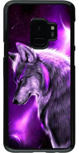 Coque Samsung Galaxy S9 - Purple Sky Wolf
