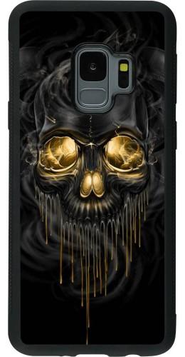 Coque Galaxy S9 - Silicone rigide noir Skull 02