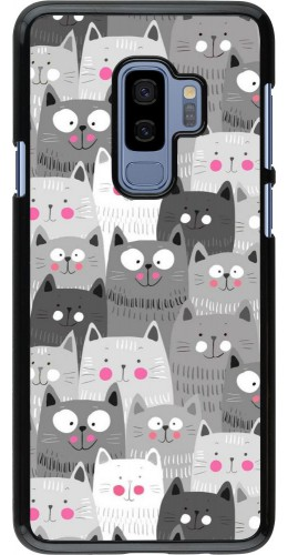 Coque Samsung Galaxy S9+ - Chats gris troupeau