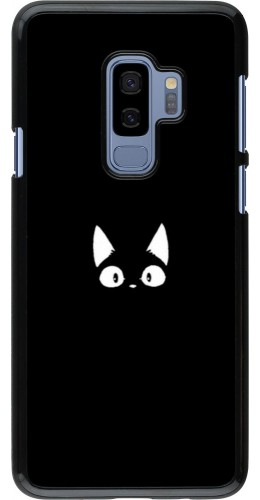 Coque Samsung Galaxy S9+ - Funny cat on black