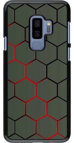 Coque Samsung Galaxy S9+ - Geometric Line red