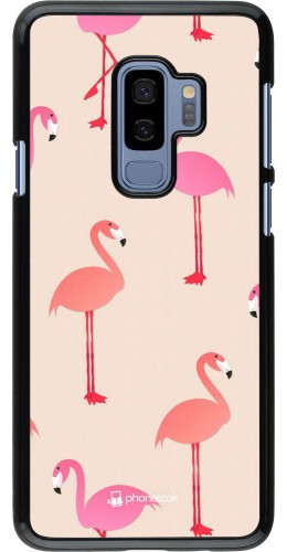 Coque Samsung Galaxy S9+ - Pink Flamingos Pattern