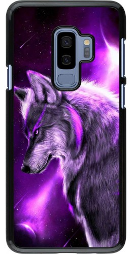 Coque Samsung Galaxy S9+ - Purple Sky Wolf