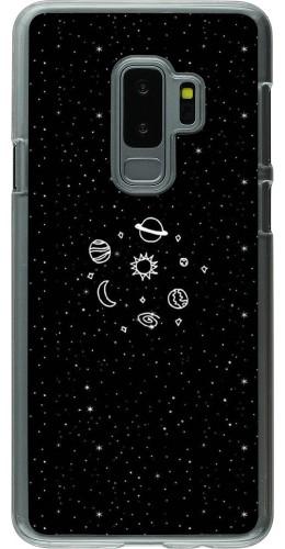 Coque Samsung Galaxy S9+ - Plastique transparent Space Doodle