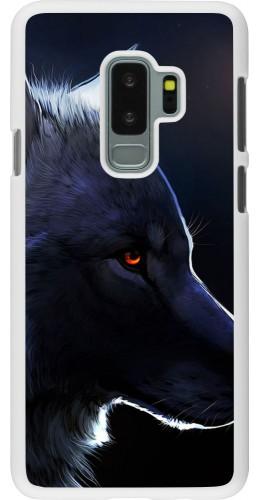 Coque Samsung Galaxy S9+ - Plastique blanc Wolf Shape