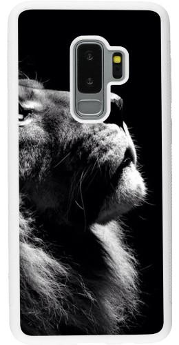 Coque Samsung Galaxy S9+ - Silicone rigide blanc Lion looking up