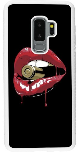 Coque Samsung Galaxy S9+ - Silicone rigide blanc Lips bullet