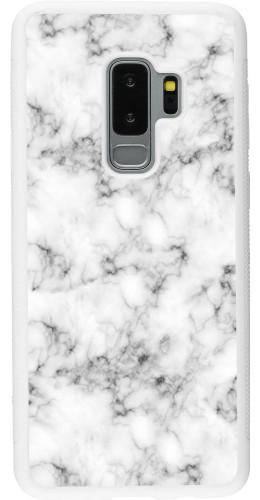 Coque Samsung Galaxy S9+ - Silicone rigide blanc Marble 01