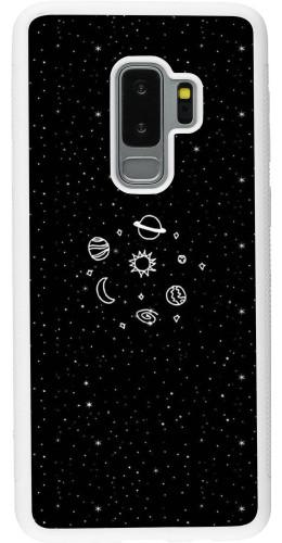 Coque Samsung Galaxy S9+ - Silicone rigide blanc Space Doodle