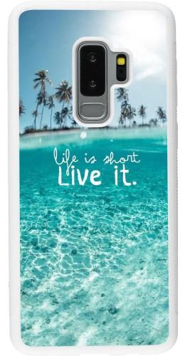 Coque Samsung Galaxy S9+ - Silicone rigide blanc Summer 18 24