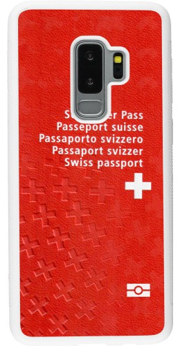 Coque Samsung Galaxy S9+ - Silicone rigide blanc Swiss Passport