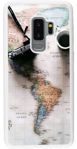Coque Samsung Galaxy S9+ - Silicone rigide blanc Travel 01