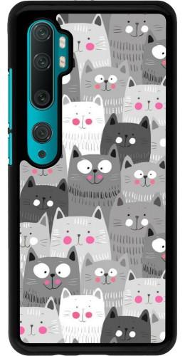 Coque Xiaomi Mi Note 10 / Note 10 Pro - Chats gris troupeau