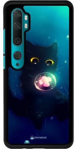 Coque Xiaomi Mi Note 10 / Note 10 Pro - Cute Cat Bubble