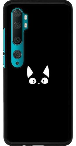 Coque Xiaomi Mi Note 10 / Note 10 Pro - Funny cat on black
