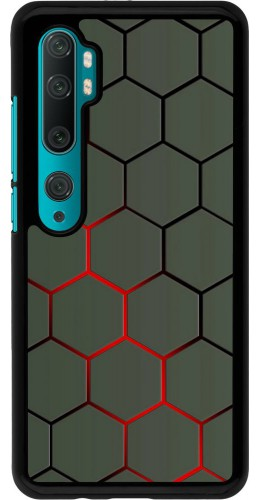 Coque Xiaomi Mi Note 10 / Note 10 Pro - Geometric Line red