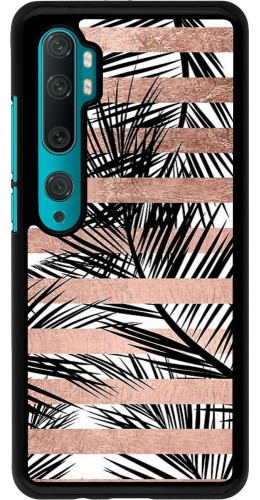 Coque Xiaomi Mi Note 10 / Note 10 Pro - Palm trees gold stripes