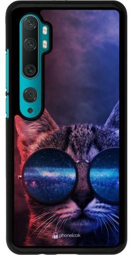 Coque Xiaomi Mi Note 10 / Note 10 Pro - Red Blue Cat Glasses