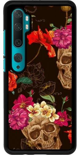 Coque Xiaomi Mi Note 10 / Note 10 Pro - Skulls and flowers