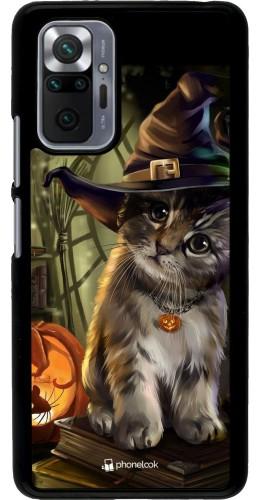Coque Xiaomi Redmi Note 10 Pro - Halloween 21 Witch cat