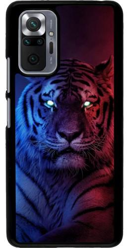 Coque Xiaomi Redmi Note 10 Pro - Tiger Blue Red