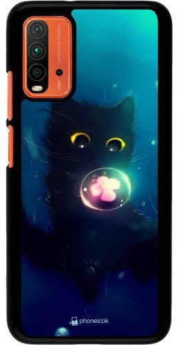 Coque Xiaomi Redmi 9T - Cute Cat Bubble