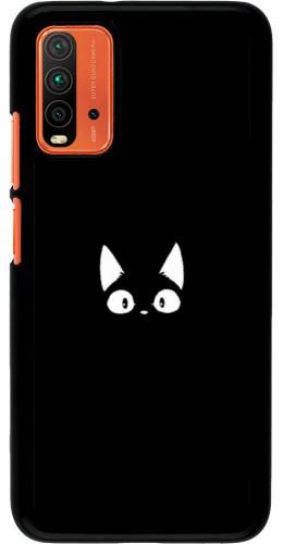 Coque Xiaomi Redmi 9T - Funny cat on black