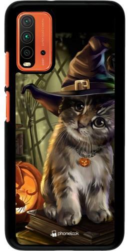 Coque Xiaomi Redmi 9T - Halloween 21 Witch cat