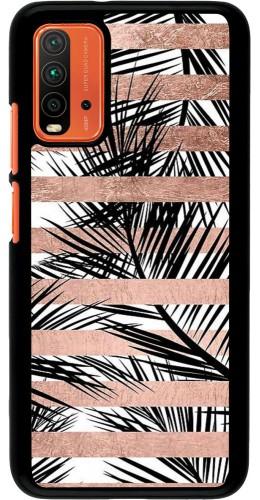 Coque Xiaomi Redmi 9T - Palm trees gold stripes