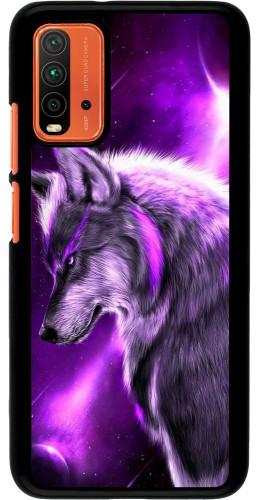 Coque Xiaomi Redmi 9T - Purple Sky Wolf