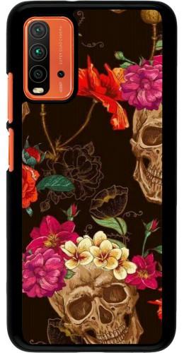 Coque Xiaomi Redmi 9T - Skulls and flowers
