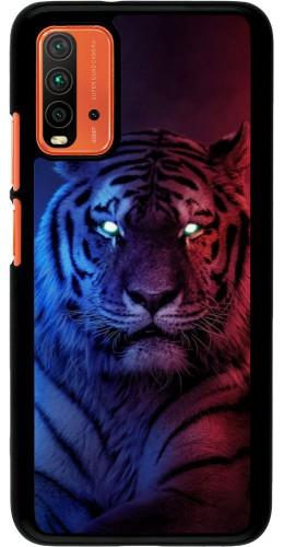 Coque Xiaomi Redmi 9T - Tiger Blue Red