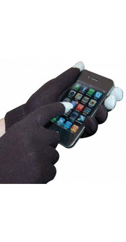 Gants pour écrans tactiles noir