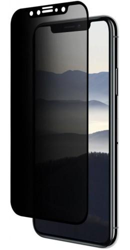 3D Tempered Glass vitre de protection noir Privacy - iPhone 11