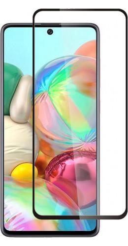 3D Tempered Glass Samsung Galaxy A71 - Vitre de protection d'écran intégrale verre trempé avec bords noirs