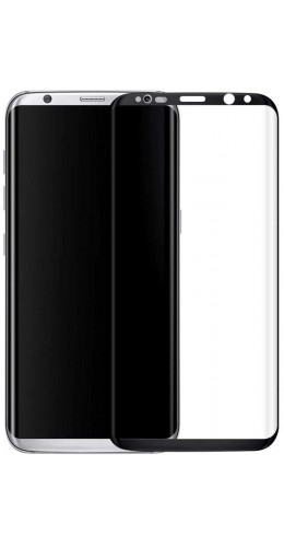 3D Tempered Glass vitre de protection noir - Samsung Galaxy S8