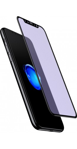 3D Tempered Glass vitre de protection noir anti-lumière bleue - iPhone X / Xs