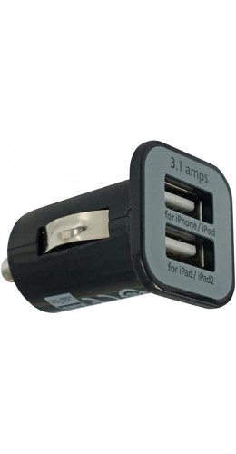 Adaptateur double USB allume-cigare USAMS