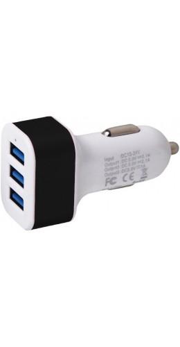 Adaptateur triple USB allume-cigare noir