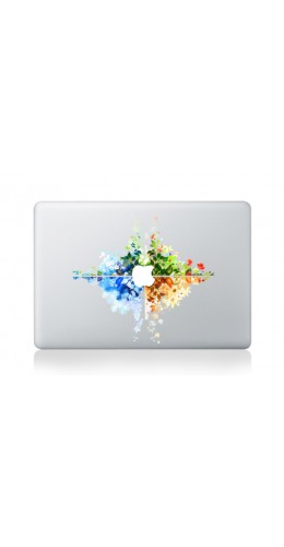 "Autocollant MacBook 13"" -  4 seasons"